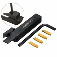 1pc MGEHR1616 3 Tool Holder Boring Bar 4pcs MGMN300 Carbide Inserts With Wrench For CNC Lathe
