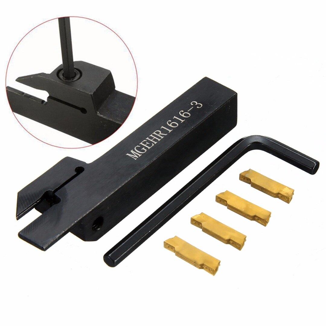 1 pz MGEHR1616-3 Supporti Strumenti Barra + 4 pz MGMN300 Inserti In Metallo Duro con la Chiave Per Tornio CNC Strumento