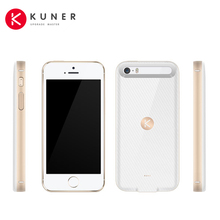 KUNER Classic 1700mAh Rechargeable External Battery Backup Charger Case Pack Power Bank Fits for Apple iPhone 5 5S and SE CL578