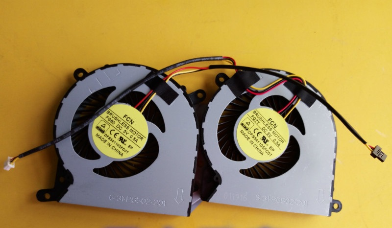 New Laptop CPU Cooling Fan Compatible with Clevo P650SA P650SG P650SE P650RG P651SE P651SG