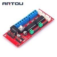 1PCS 4 DC Motor Driver Module 4WD Car L293D Module For Arduino Smart Car Robot