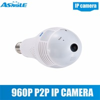 Wholesale 960P Camera 360 Degree Wifi CCTV Camera Light Bulb Camera for QP136