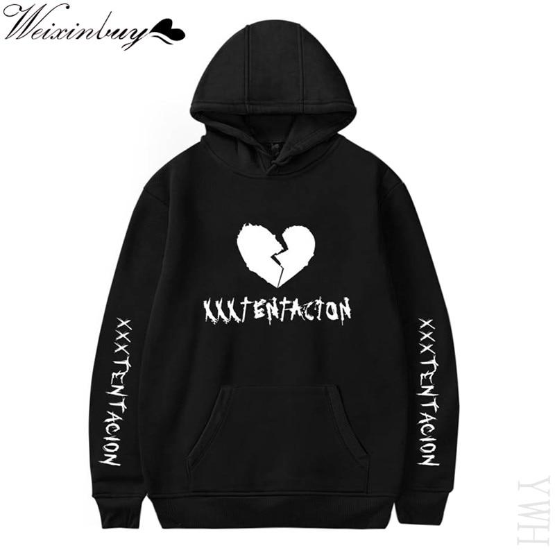 Newest Fashion XXXTentacion Hip Hop Hoodie Sweatshirt Printed Pullover Sweatshirt Rapper Jahseh Dwayne Onfroy Men Clothing YWH худи xxxtentacion
