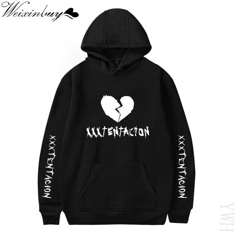 Newest Fashion XXXTentacion Hip Hop Hoodie Sweatshirt Printed Pullover Sweatshirt Rapper Jahseh Dwayne Onfroy Men Clothing YWH
