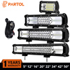 Tri Row 270W 20 LED Light Bar CREE Chips Spot Flood Combo Beam 6000K ATV SUV