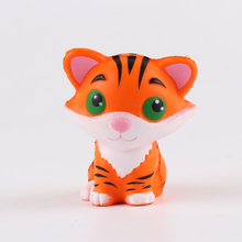 Squishy Kawaii Cute Little Tiger Slow Rising Soft Squeeze Fun Decompression Kids Toys Phone Straps Children's Toy Gifts(China)