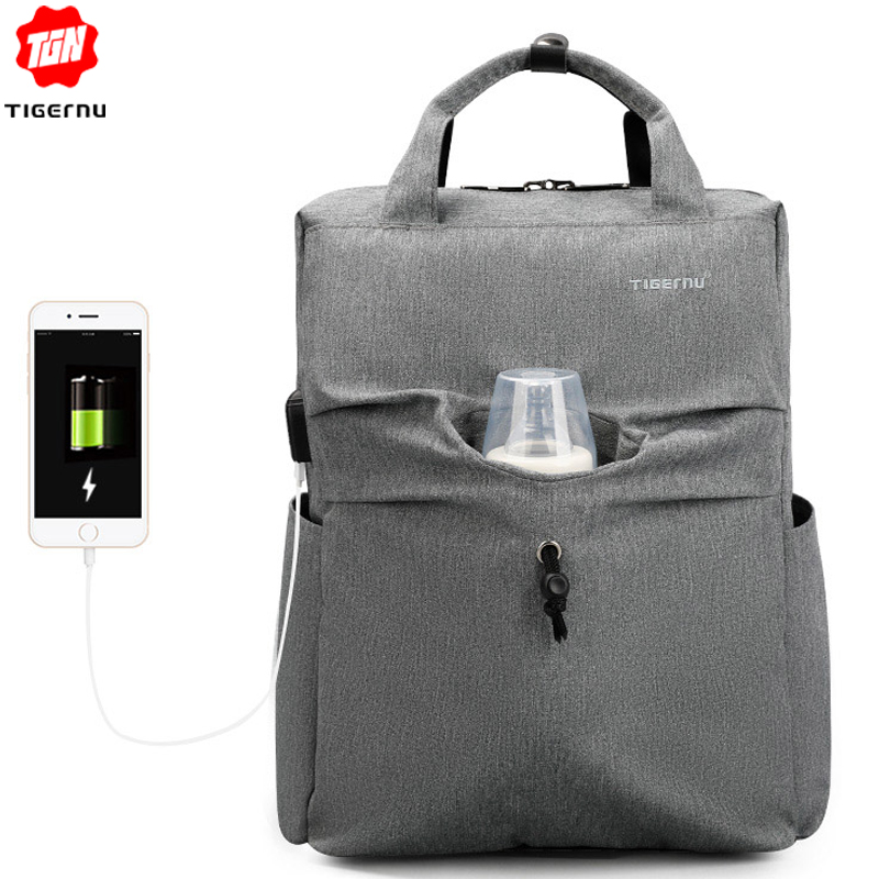 Tigernu Mommy Diaper Bag Baby Nappy Bags Desiger Nursing Bag Fashion Travel  Women Small Backpack Baby Care Bebek Bag For Mom-in Backpacks from Luggage  ... bdc43fd6ff19e