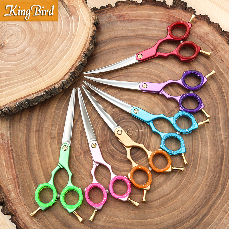 Professional Pet Dog Grooming Scissors Curved 6 Inch Curved Scissors Super Japan 440C Light weight 6 color Kingbird TOP CLASS in Dog Scissors from Home Garden