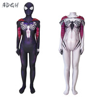 Superhero Spider Man Cosplay Costume Women Skinny Jumpsuit Role Play Movie Costumes Spider Girl Catsuit Sexy Dress Wholesale Lot