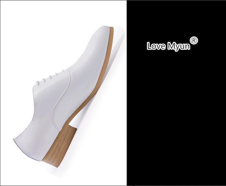 New mens del cuoio genuino pattini di vestito bianco balck oxfords rotonde toe lace up scarpe da sposa di alta qualità business casual lavoro scarpe - 6