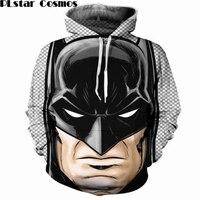 PLstar Cosmos Batman Print 3D Hoodies Men Women Classic DC Comics Character Sweatshirt Hoody Street Clothing