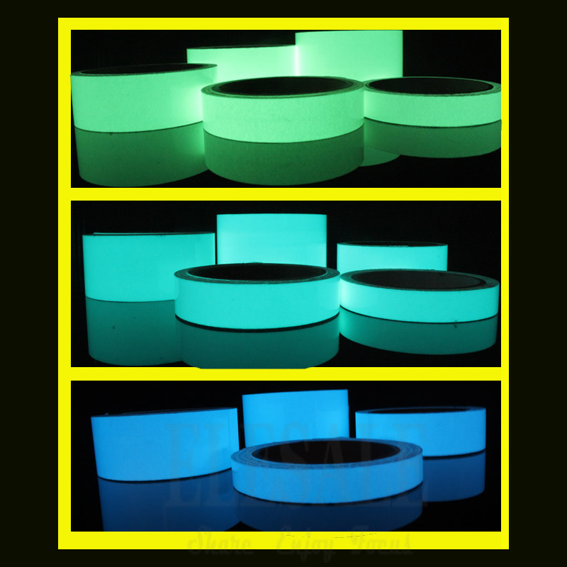 1 Roll 1.5cm*1m Luminous Tape Self-Adhesive Warning Tape Night Vision Caution Indication Tape For DIY Home Decoration
