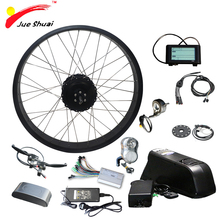 цена на 26 4.0 Fat Bike Electric Bike Conversion Kit with Lithium Battery 12/14/16ah 48V Fat Bike Rear Motor Wheel Electric Ebike Kit