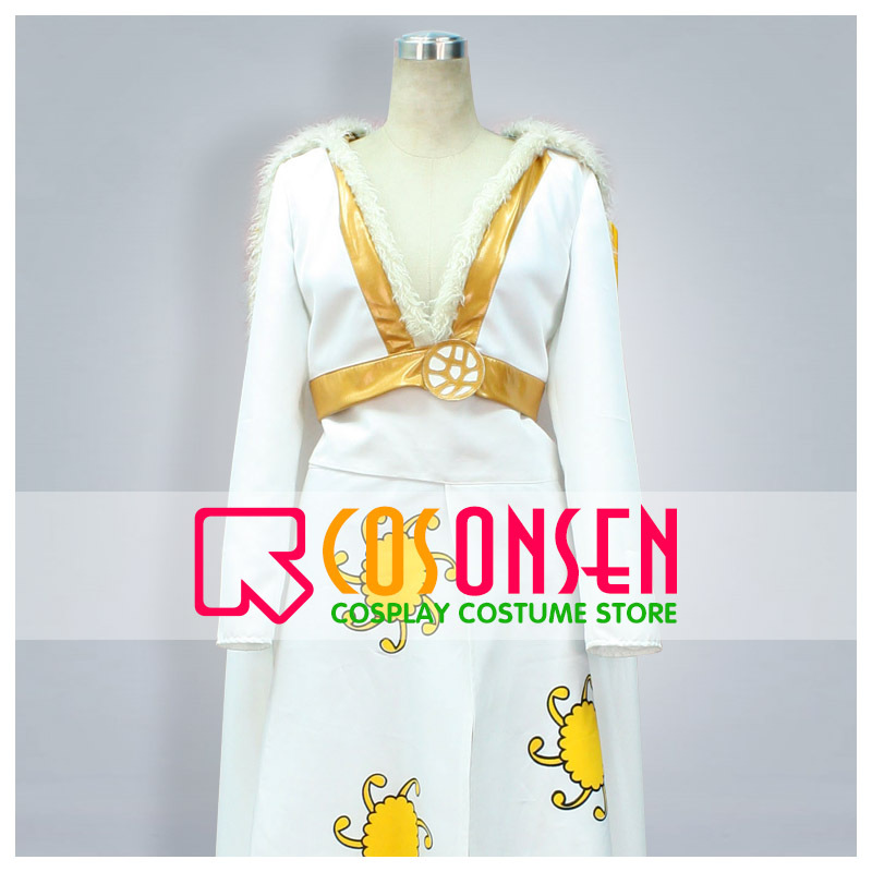 COSPLAYONSEN One Piece Boa Hancock Cosplay Costume White Yellow Color All Size