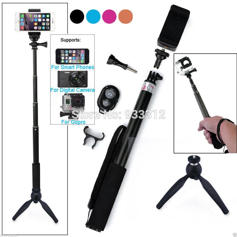 Prix pour YUNTENG Trépied + Selfie Bâton Bluetooth Obturateur de Caméra À Distance Trépied Manfrotto Pour Samsung S7 A8 A7 NOTE Pour NEXUS 5 6 7/Pour GoPro