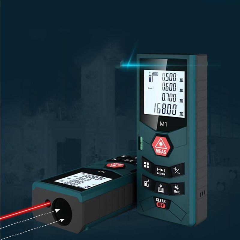 Handheld laser range finder 40M 60M 80M 100M voice report range finder infrared measuring instrument electronic ruler measuring