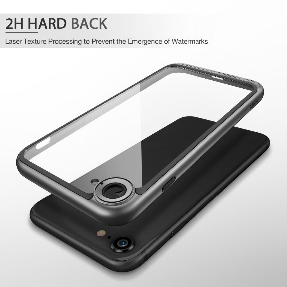 best service 1febf eccf4 US $8.57 34% OFF|Case for iPhone 8/8 Plus, ESR Heavy Duty Dual Layer Solid  Cover with Bumper Frame Clear Hard Back Cover for iPhone8/7/7 Plus/8P-in ...