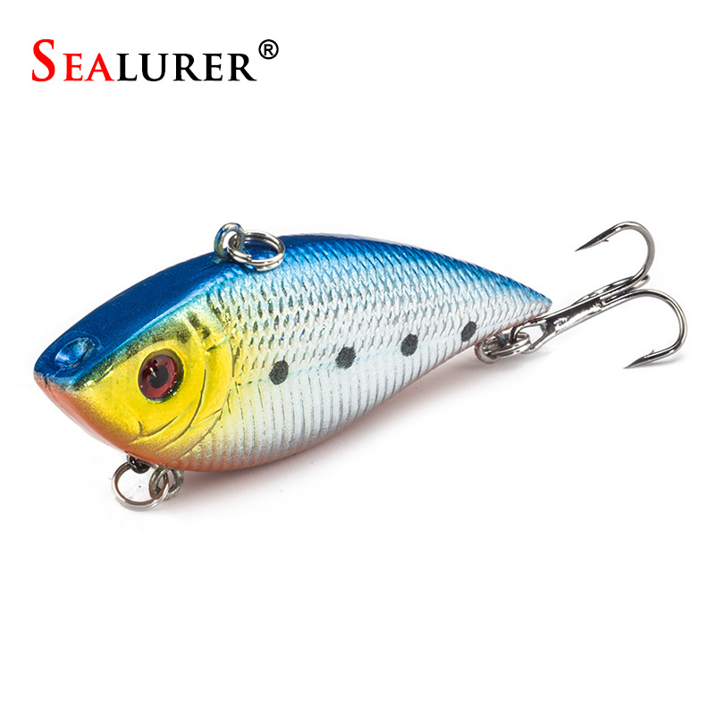 SEALURER 1PCS VIB Fishing Lure 7CM 10.5G Pesca Wobbler Crankbait Artificial Japan Floating Hard Bait Tackle 5 Colors Available sealurer fishing lure minnow hard bait pesca floating wobbler 8cm 7 5g isca carp crankbait jerkbait 5colors 1pcs lot