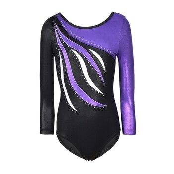 Kids Dance Wear Girls Long Sleeves Ballet Dress  Gymnastics Leotards Acrobatics - discount item  23% OFF Stage & Dance Wear