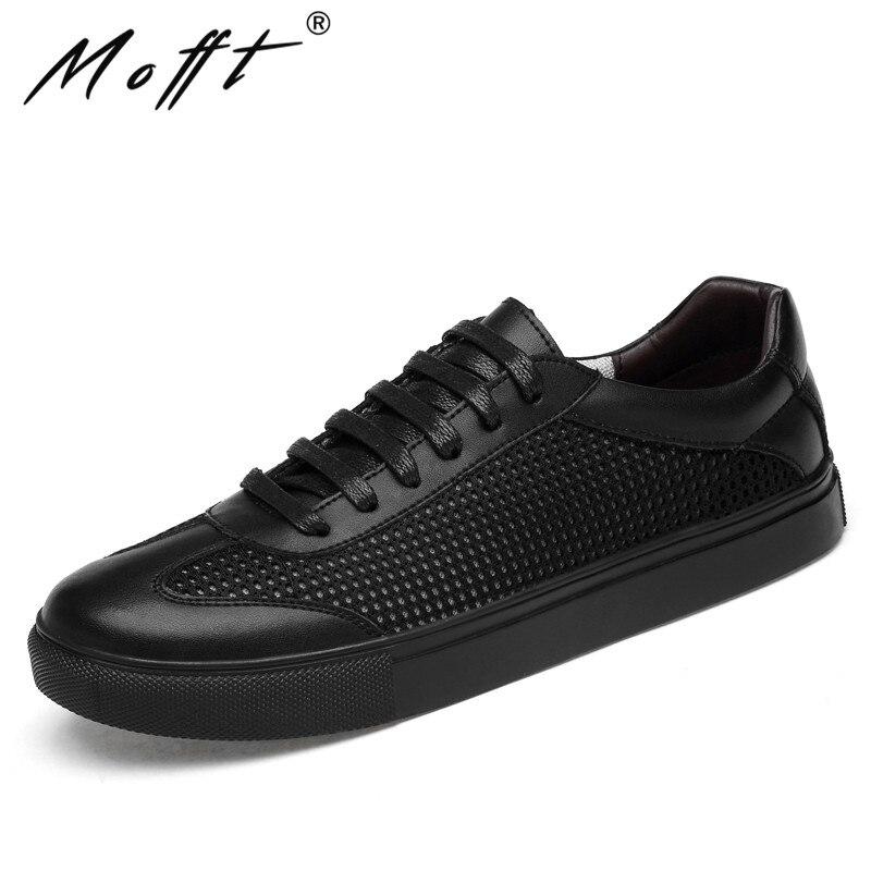 Large Size 38 46 Genuine Leather Casual Shoes Breathable Men Flat Shoes Lace Up Non slip Men Sneakers Fashion Casual Shoes-in Men's Casual Shoes from Shoes    1