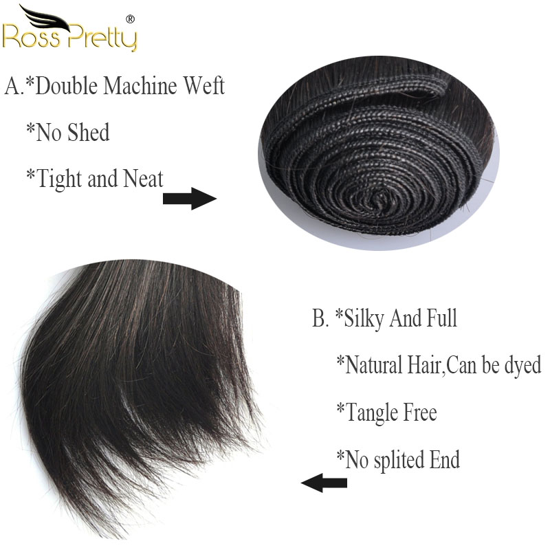 brazilian straight hair bundle details