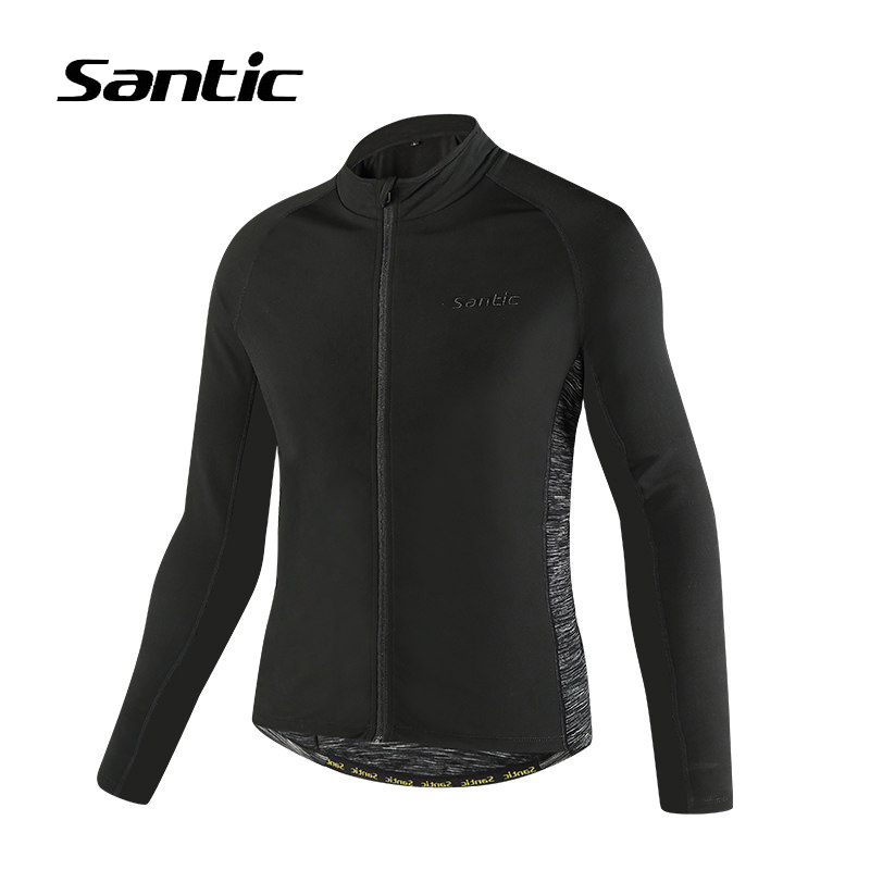 все цены на Santic Cycling Jacket Long Sleeve Autumn Windproof Road Mountain Bike Jacket Men Winter Fleece Warm Jacket Bicycle Clothing