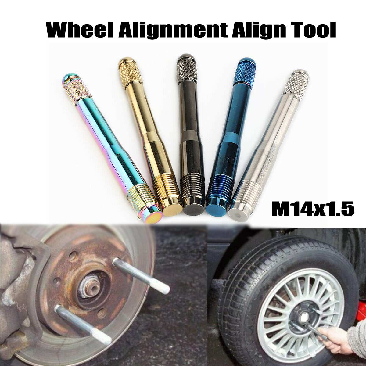 Universal Car Wheel Alignment Stainless Steel Align Tool Camber Castor Strut Tire Repair Tools Aligning Studs Positioning Tool