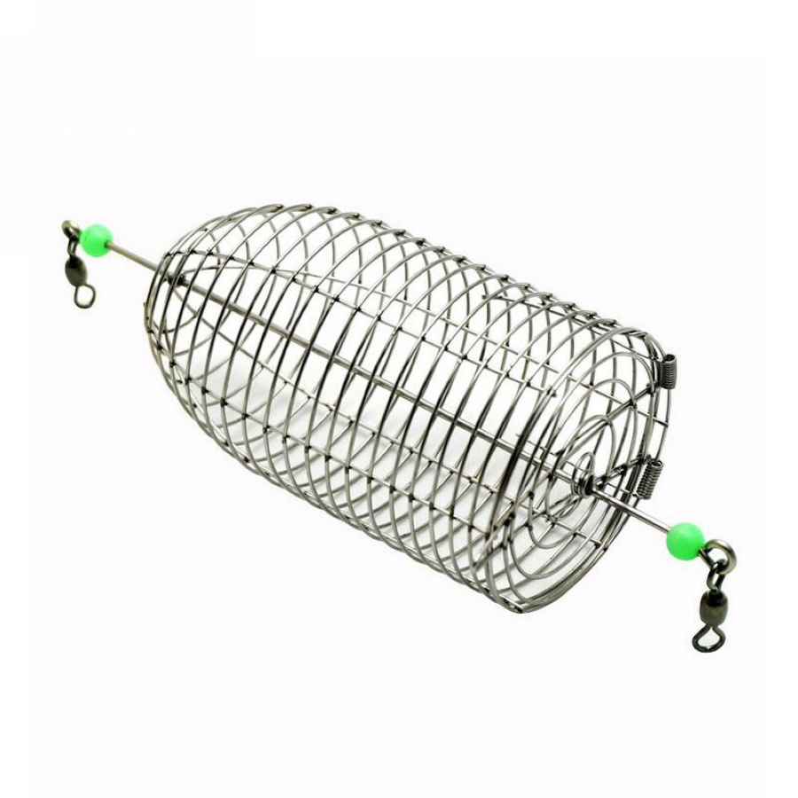 1Pcs 4 sizes Conical Cage Fish Bait Stainless Steel Wire