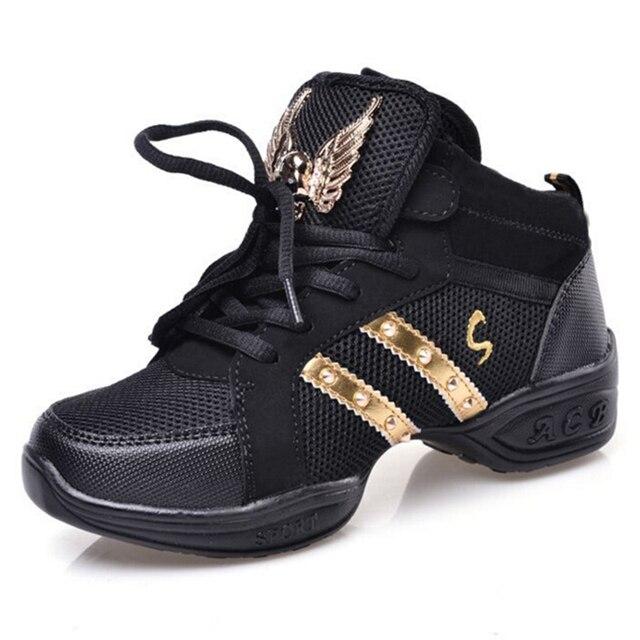 Kids Sneakers Children Rivet Gold Shining Air Mesh Nonslip Soccer Dancing Shoes Girls Fitness Running Hiking Shoes