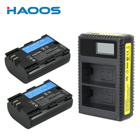 2PCS Rechargeable 2750mAh LP E6 LP E6 Batteries Pack New LCD USB LPE6 Battery Charger For