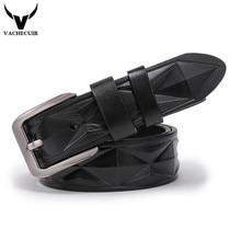 VACHECUIR  luxury designer High quality Genuine leather man belt