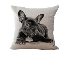 Free Shipping Wholesale 100% New Mianma European Adorable French Bulldog Dog Series Cushion Pillow on sofa for home decoration