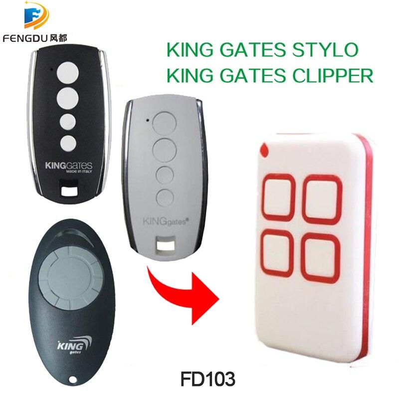 43392mhz:  KING GATES CLIPPER STYLO remote control universal gate garage remote control KING GATES remotes duplicator 433.92MHz - Martin's & Co