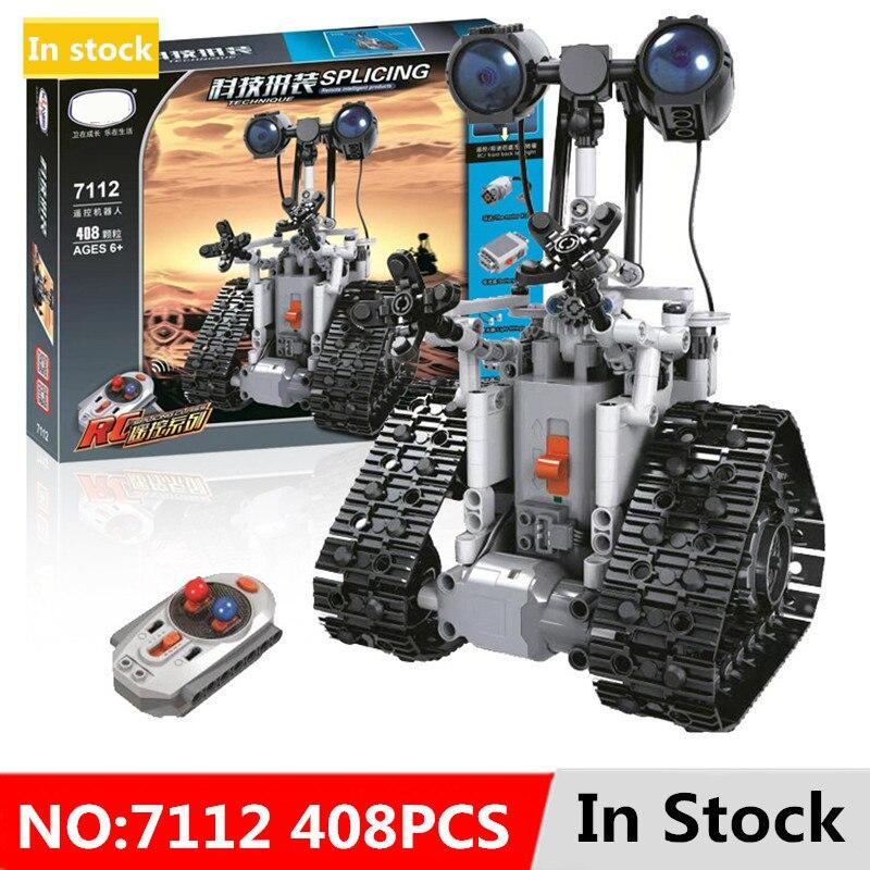 Technologie ville télécommande RC Bulldozer électrique concepteur blocs de construction technique Compatible avec l'ingénierie 408 pièces jouets cadeaux