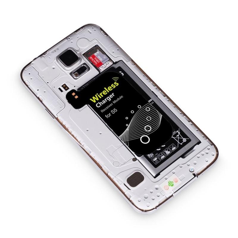 DULCII for Samsung Galaxy S5 Qi Wireless Charging Receiver 0.5mm Ultra-thin Qi Standard Wireless Charging Module for Samsung S5