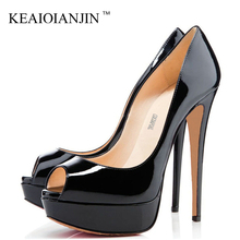 KEAIQIANJIN Woman Sandalia Feminina Pole Dance Plus Size 33 - 43 Party Wedding Peep Toe Pumps Sexy 12 CM Fetish High Heels Shoes цена 2017