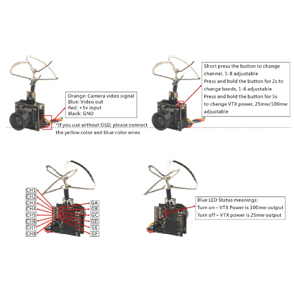 medium resolution of package included 1 x 5 8g 48ch fpv camera