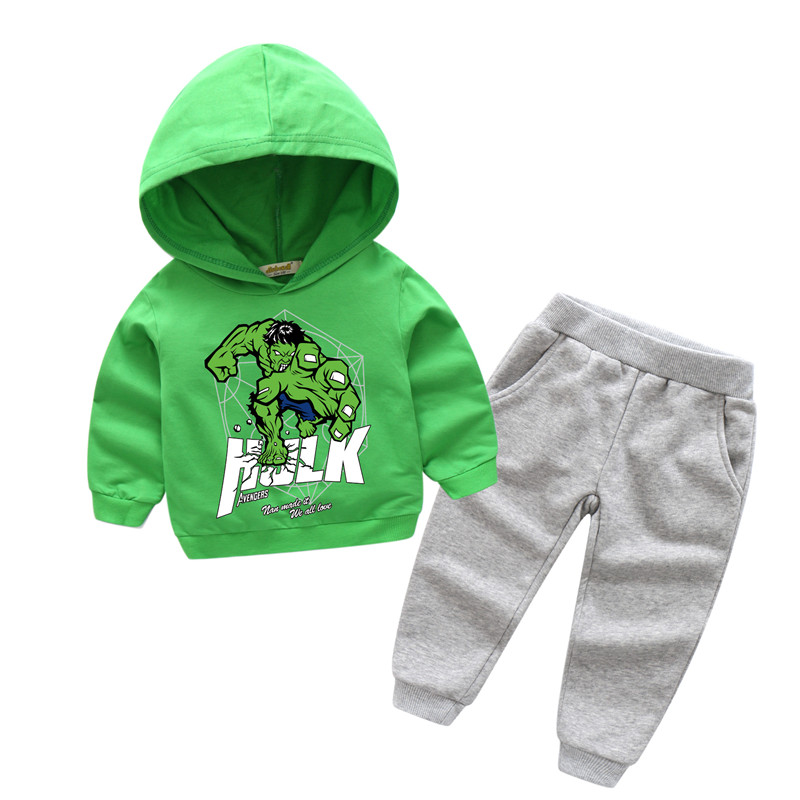 2018 Boy Girls New 3D Hulk Printing Clothes Sets Children Long Sleeve Cotton Hoodies Suits For Kids Sport Sets Clothing TZ017 футболка для мальчиков children boy clothes camisa 100% vetement garcon enfant girls tee shirts