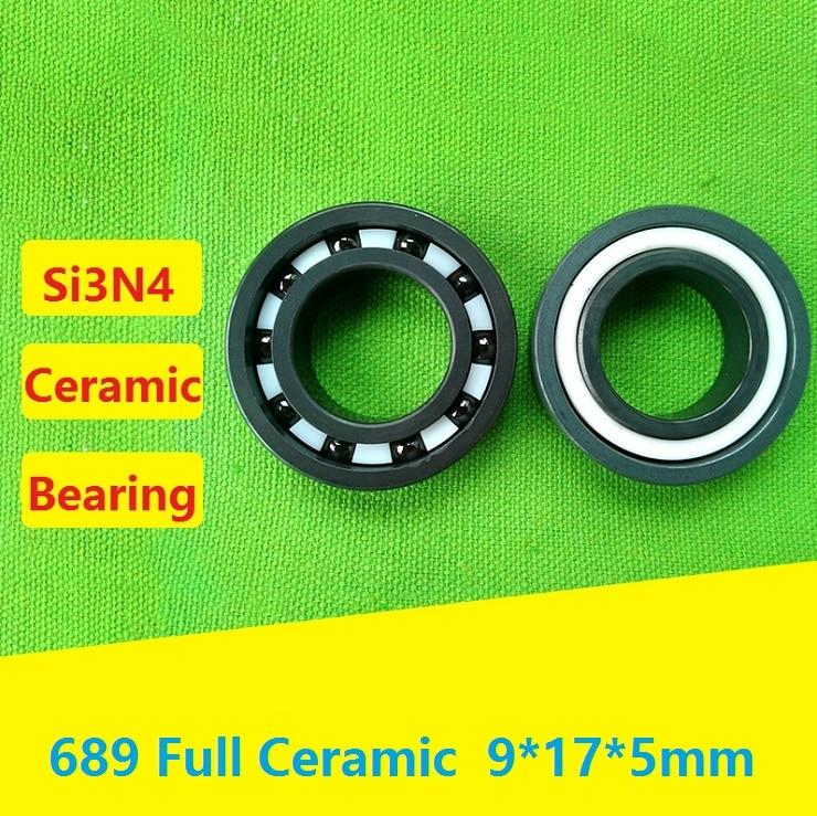 4pcs 10pcs 689 full Si3N4 Ceramic bearing 9x17x5 mm Ceramic deep groove ball bearings 9 17