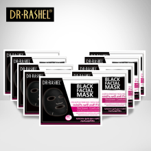 New Arrive DR.RASHEL Black mask Face Facial Mask Sheet Skin Care High Moisture Essence Oil Control Anti aging masker  купить недорого в Москве