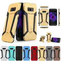Newest TPU PC 2 In1 Armor Rugged Protective Kickstand Phone Back Case Cover Skin For Samsung