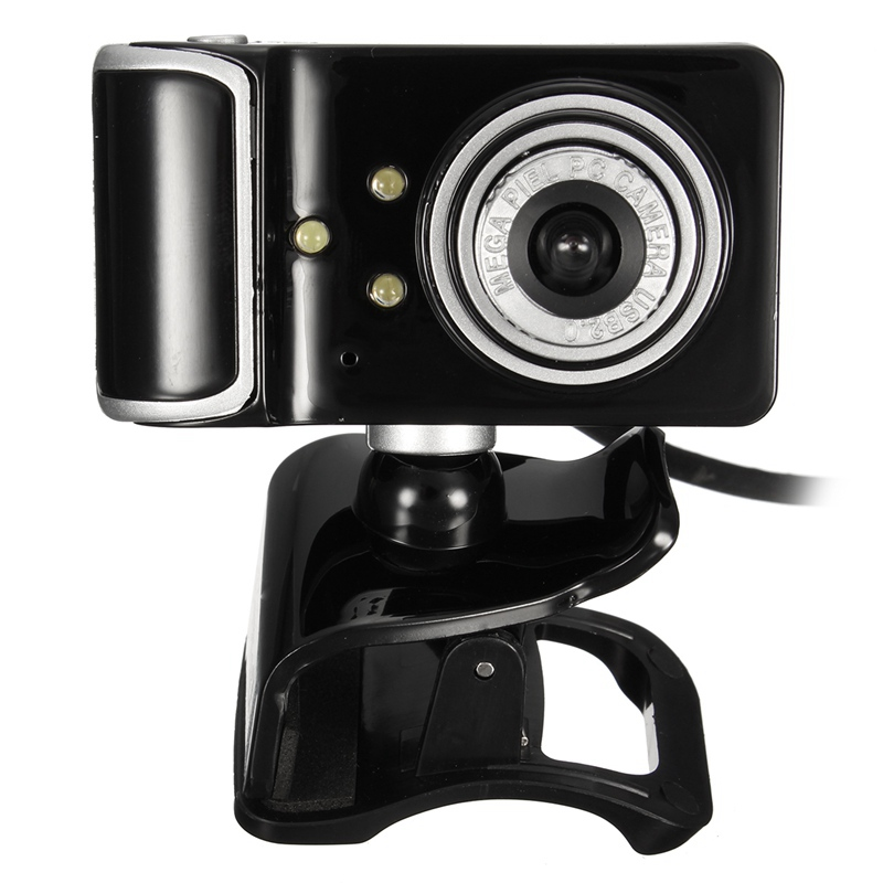 Hd web camera clip on 360 degree rotation usb webcam 3 led for Camera tv web