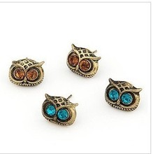 Latest Fashion Exquisite Complex  Cute Big Eyes Owl Earrings Jewelry Factory Direct
