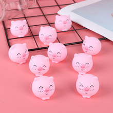 2pcs Toys for Kids Gifts Mini Pink Pigs Toy Cute Vinyl Squeeze Sound Animals Lovely Antistress Squishies Squeeze Pig(China)