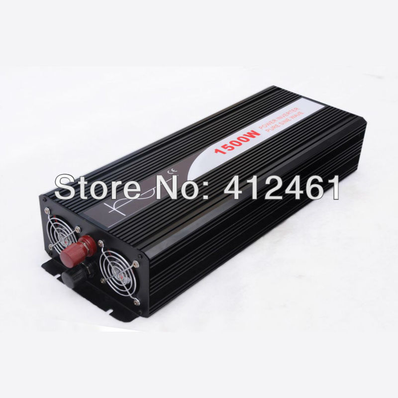 цена на 1500W Power Inverter Pure Sine Wave 12V DC to 220V AC Converter Car inverters AC Adapter Power Supply Dropshipping