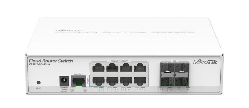 MikroTik Nuage Routeur Commutateur CRS109-8G-1S-2HnD-IN 8 Gigabit Ports RouterOS