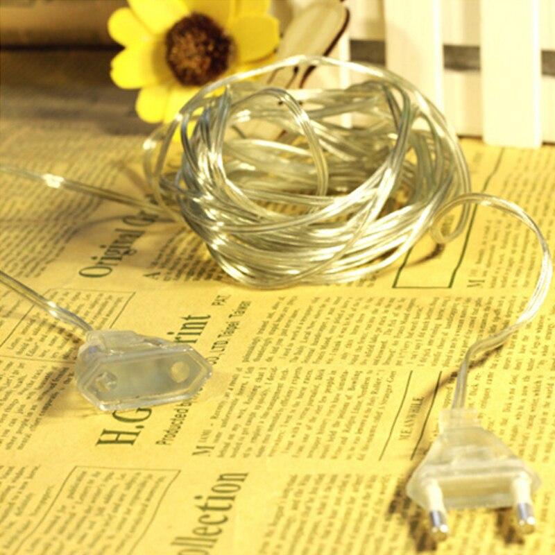 Wholesale 200CM Extender Transparent Wire for Christmas Led String light Indoor Outdoor Garden Decoration EU Plug US Plug