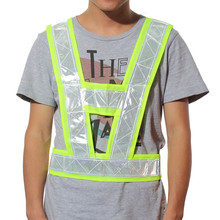 1Pcs HighVisitors Security Reflective Vest Outdoor For Running Cycling Vest Harness Reflective Belt Safety Jacket