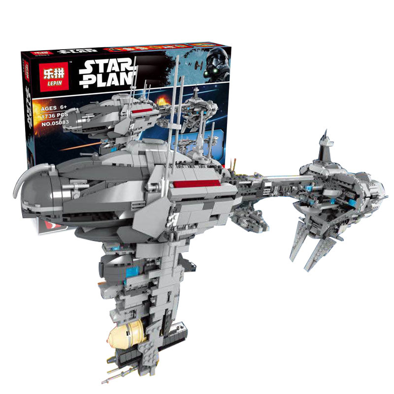 Lepin 05083 1736Pcs Star series War MOC Series The Nebulon-B Medical Frigate Set Building Blocks Bricks Funny Toy For children rollercoasters the war of the worlds