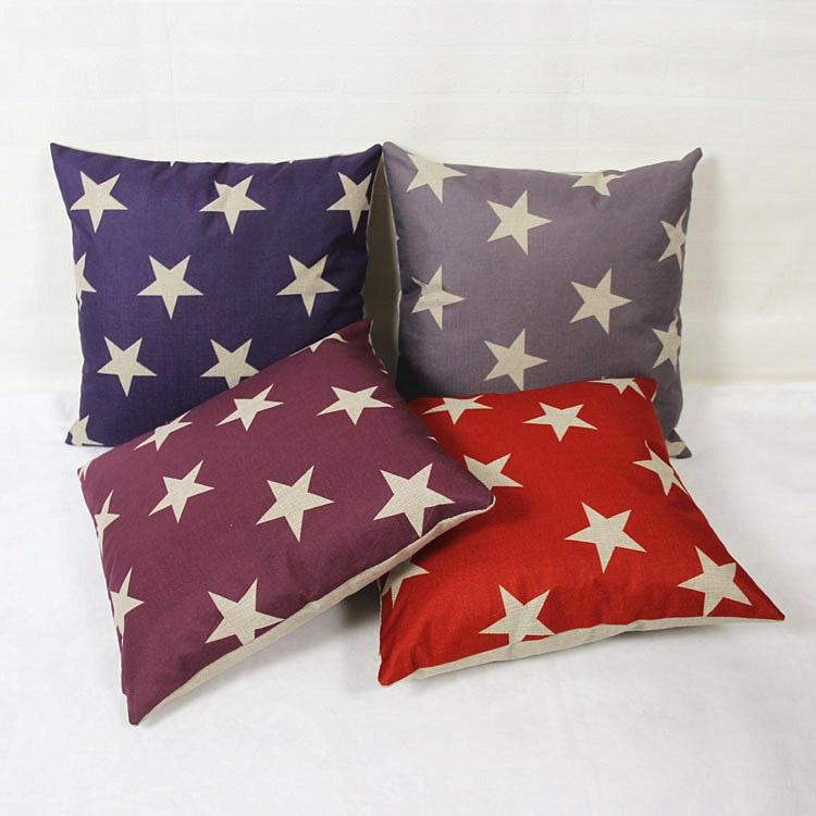 High Quality Car Printed Cotton Linen Blackout Curtain: MYJ High Quality Colorful Stars Print Dining Chair Cushion